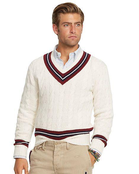 2ddb1ece86708b Cotton-Blend Cricket Sweater - V-Neck Sweaters - RalphLauren.com ...