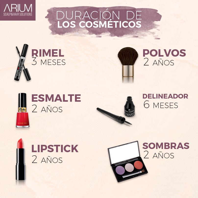 ¿El maquillaje tiene fecha de caducidad? Claro que sí, mira la siguiente infografía.