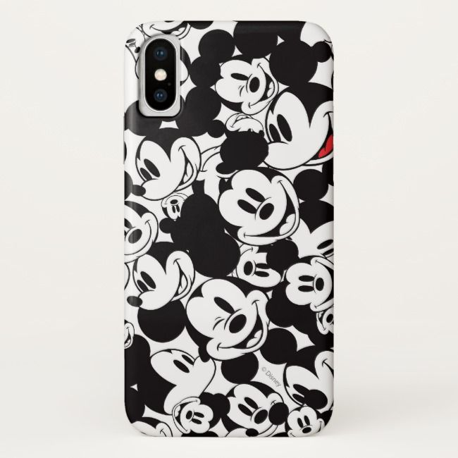 Mickey & Friends | Klassischer Mickey Muster-Case-Mate iPhone Fall | Zazzle   – Label