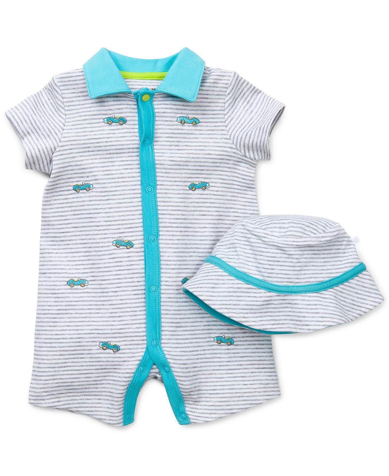 6720b1241 Little Me Baby Boys' 2-Piece Hat & Cars Romper Set - Kids Baby Boy ...