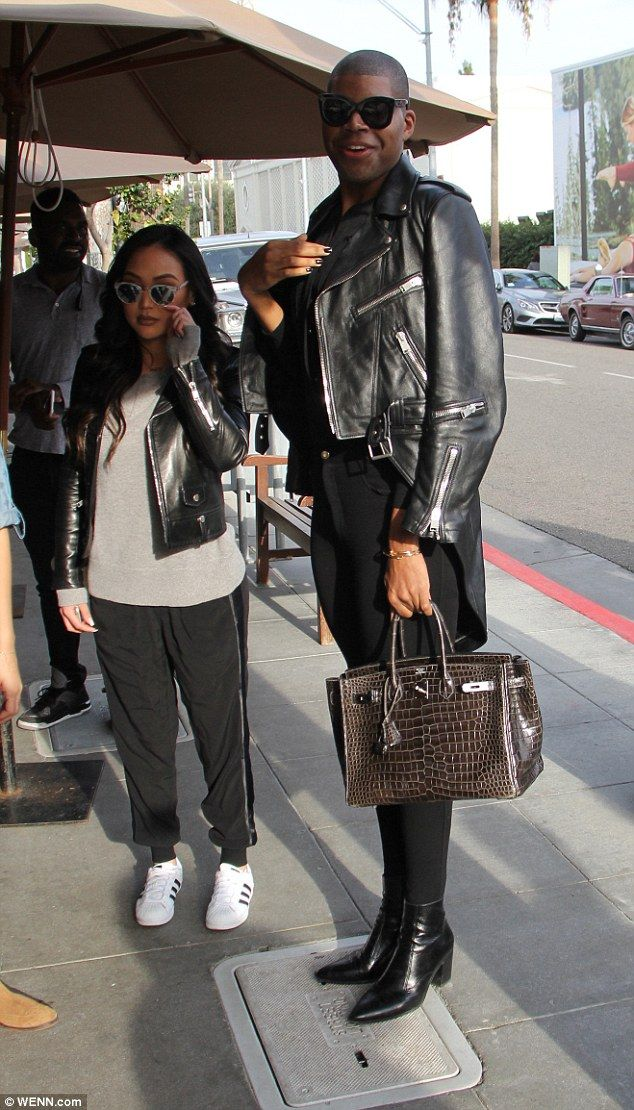 f73e2fbff290 SO fancy  EJ Johnson showed off his Hermes purse in Beverly Hills on  Wednesday.