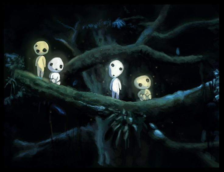 Japanese Animation Tree Spirit Princess Mononoke Princess