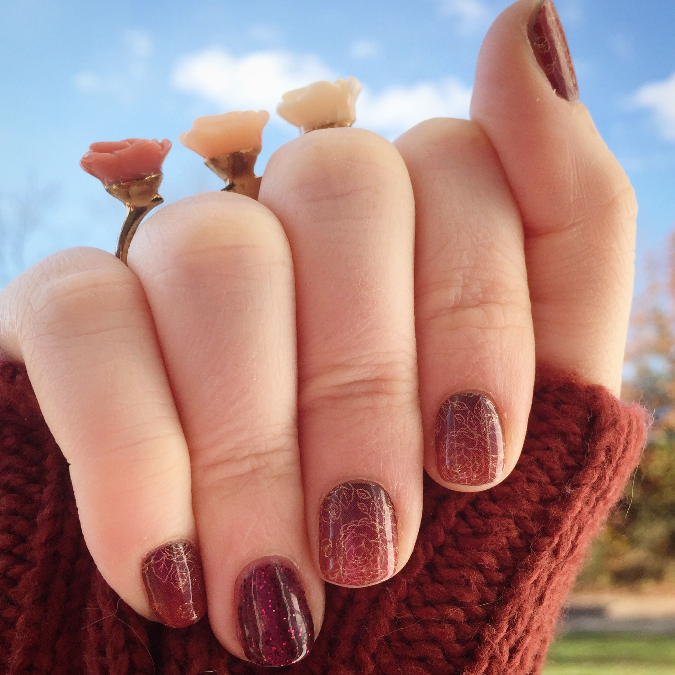 Jamberry - Autumn Romance & Bordeaux Gel - (DIY nail art, nail wraps ...