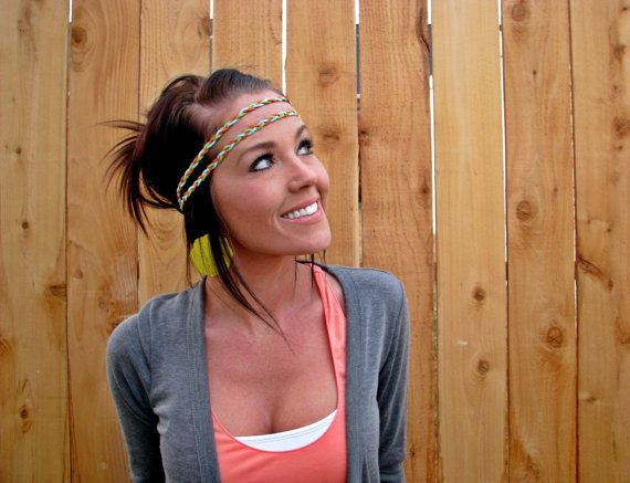 Bohemian Braided Suede Leather Dual Headband by HillNTrees