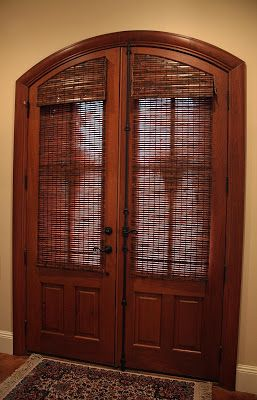 Woven Woods On Arched Doors Southern Lagniappe Decorating Solution Arched Doors With Glass Panes Front Doors With Windows Arched Doors Arched Front Door