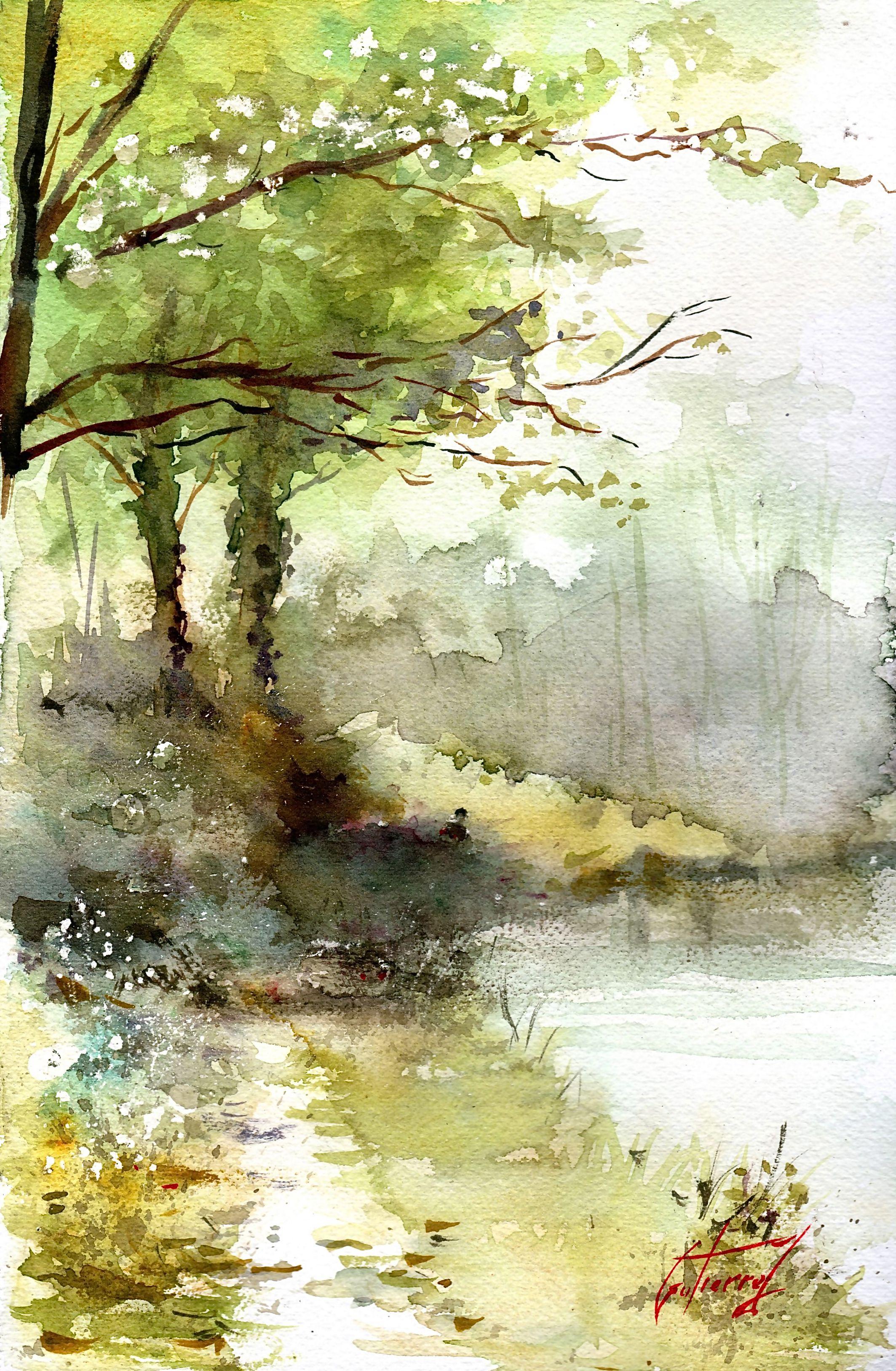 Pin De Carlos Carrion En Arboles Y Bosques Pinturas Abstractas