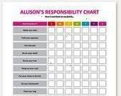 Chore Chart  EDITABLE Child Responsibility Chart Reward Chart Job Chart  Printable Kids Chore Chart  EDITABLE Child Responsibility Chart Reward Chart Job Chart Behavior C...