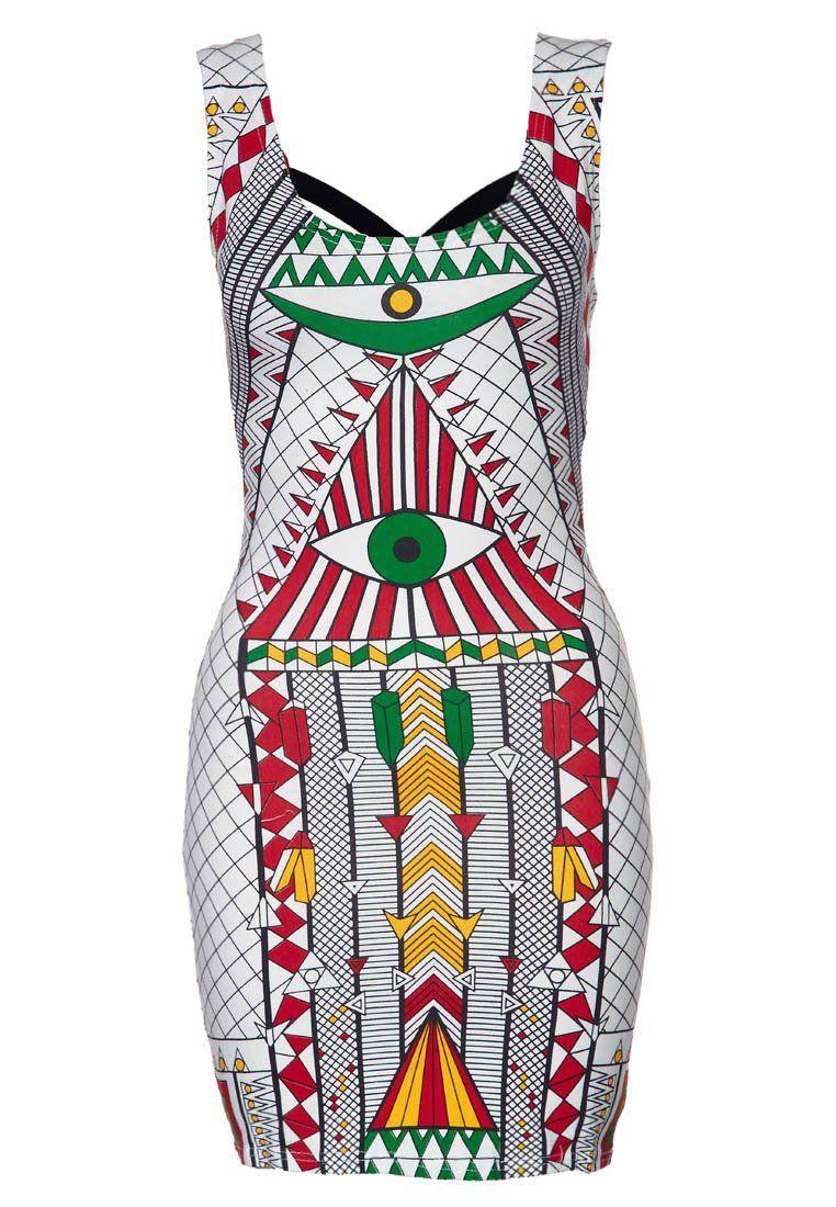 Funky print jersey dress by Reverse @ Zalando ❤ Prints
