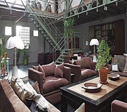 Décoration industrielle | Plans loft, Interieur maison et Décoration industrielle