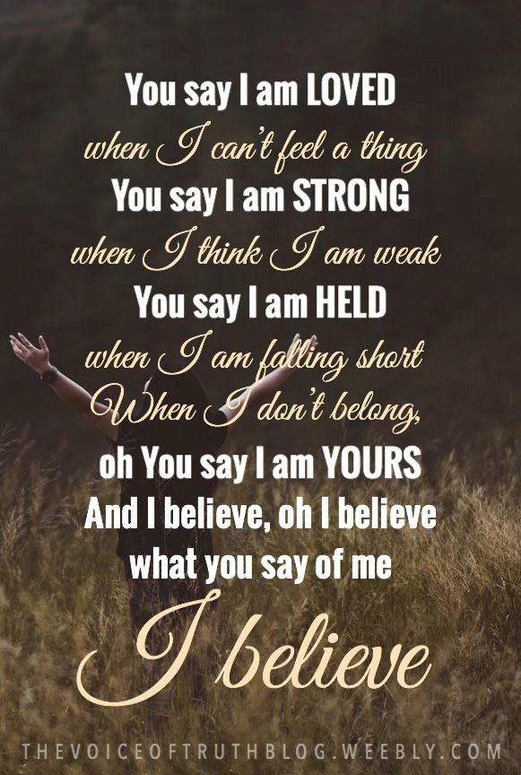 """""""You say"""" by Lauren Daigle 