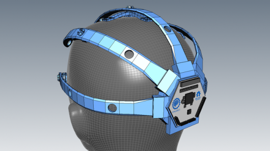 This 3D printed and modular EEG headset is designed to hold the