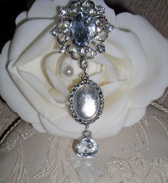 Vintage Inspired Crystal Memorial Bouquet by CharmingleeCharms