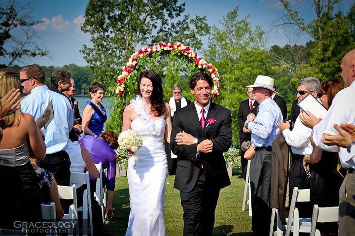floral arbor and stunning bride, floral design by Le Petit Jardin ...