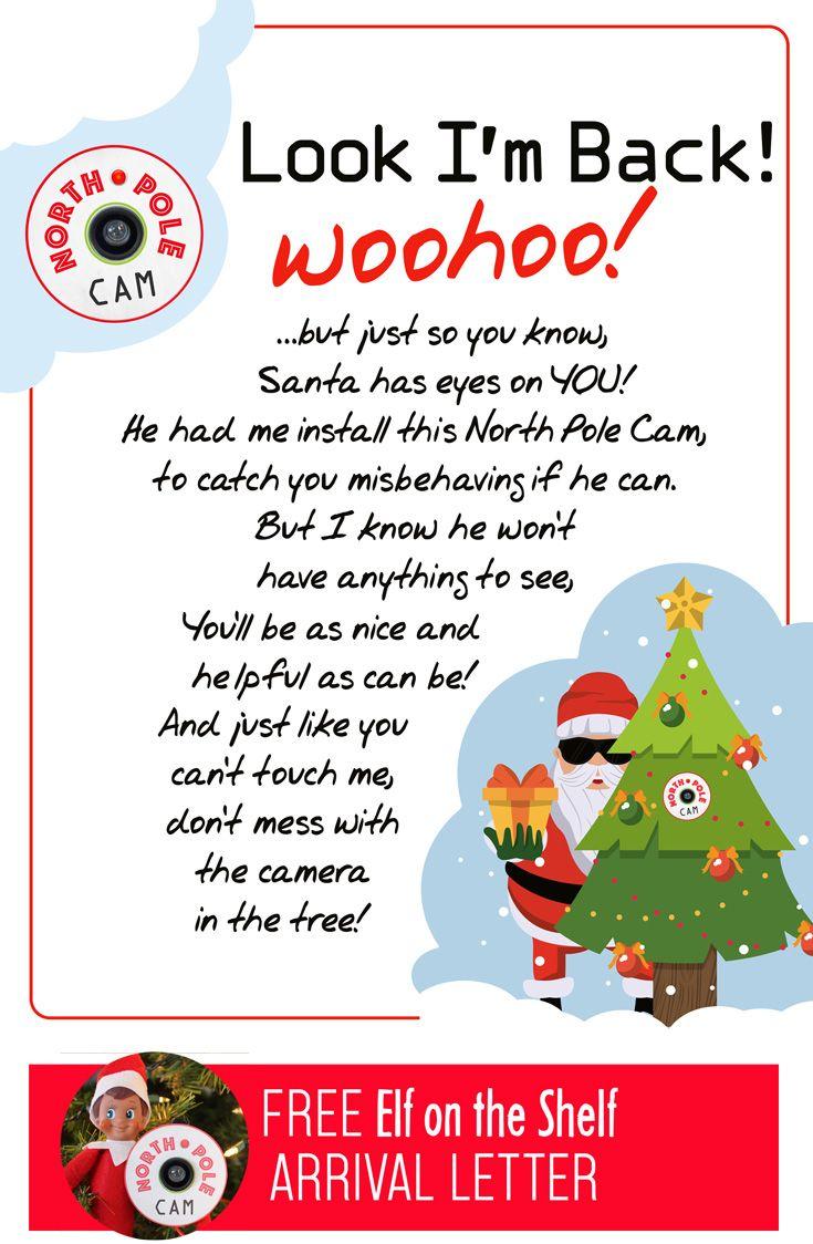 Elf on the Shelf Arrival Idea 5 min Northpole Cam with