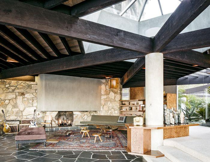 La Harpel House de John Lautner à Los Angeles John lautner - dalle beton interieur maison