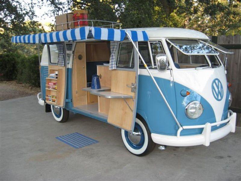 1961 volkswagen micro bus double door camper - if i can't have a