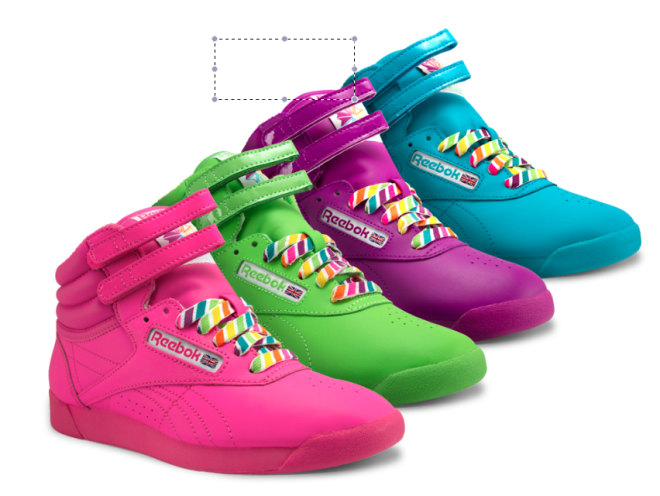 "3aacfcda0af148 5. Reebok ""Freestyle"" Hi-top sneakers in hot pink"