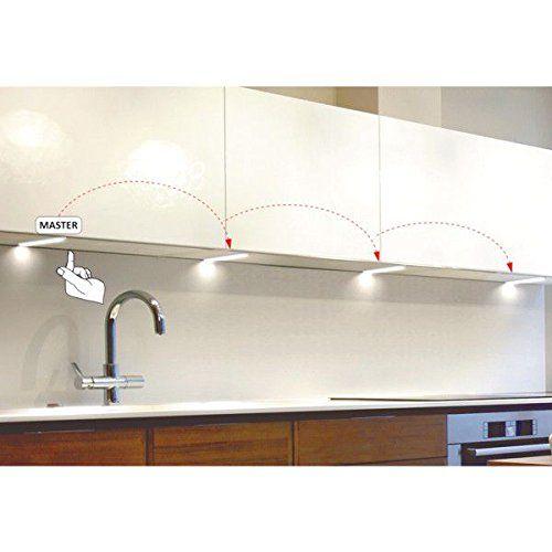 LED Küche Unterbauleuchten KIRA, 1-6er Komplett-Sets in n   - unterbauleuchten küche led
