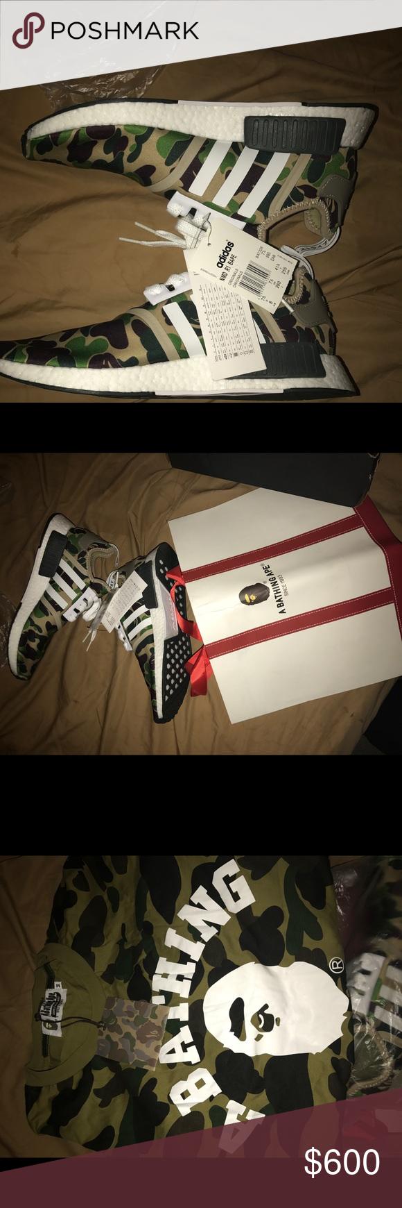 52b9da225 Spotted while shopping on Poshmark  NIB BAPE x Adidas Originals NMD R1  Green Camo!  poshmark  fashion  shopping  style  adidas  Other
