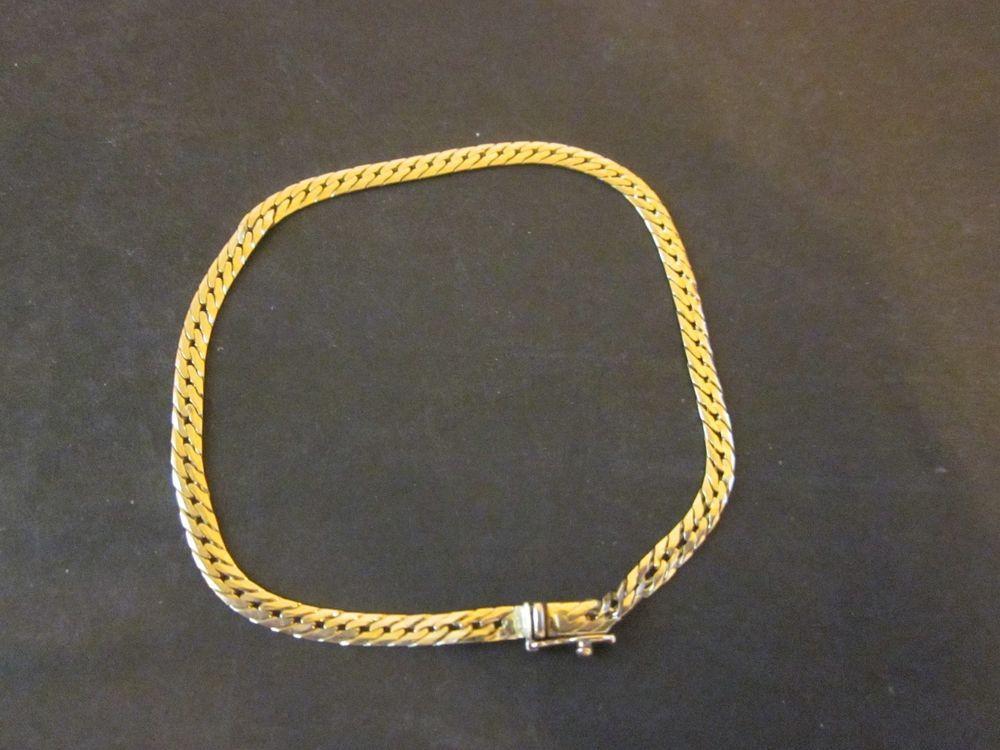 14k Gold Herringbone Bracelet 7 2 Pw