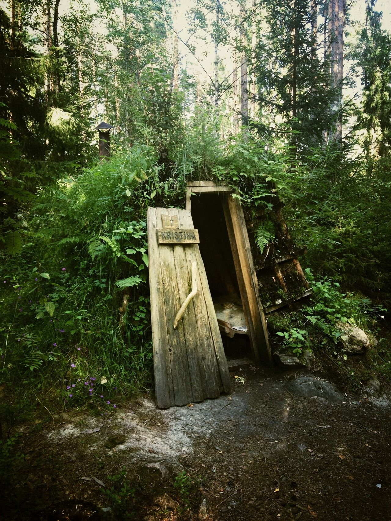 The 'Kristina Forest Hut' at Kolarbyn Eco Lodge near Skinnskatteberg, Sweden.