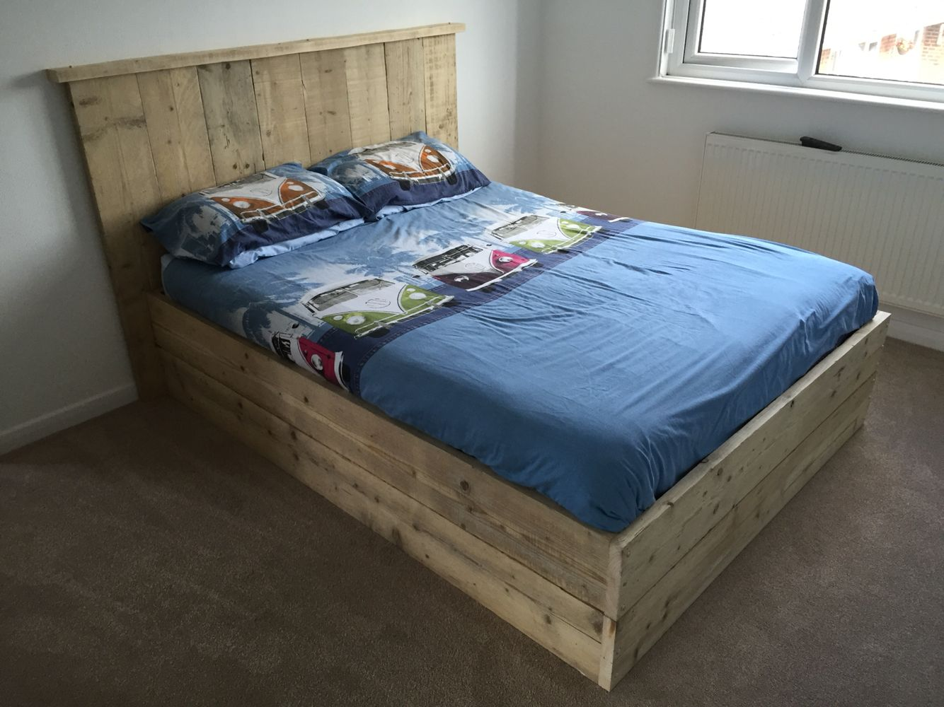 My Home Made Scaffold Board Bed Home Headboards For Beds Bed