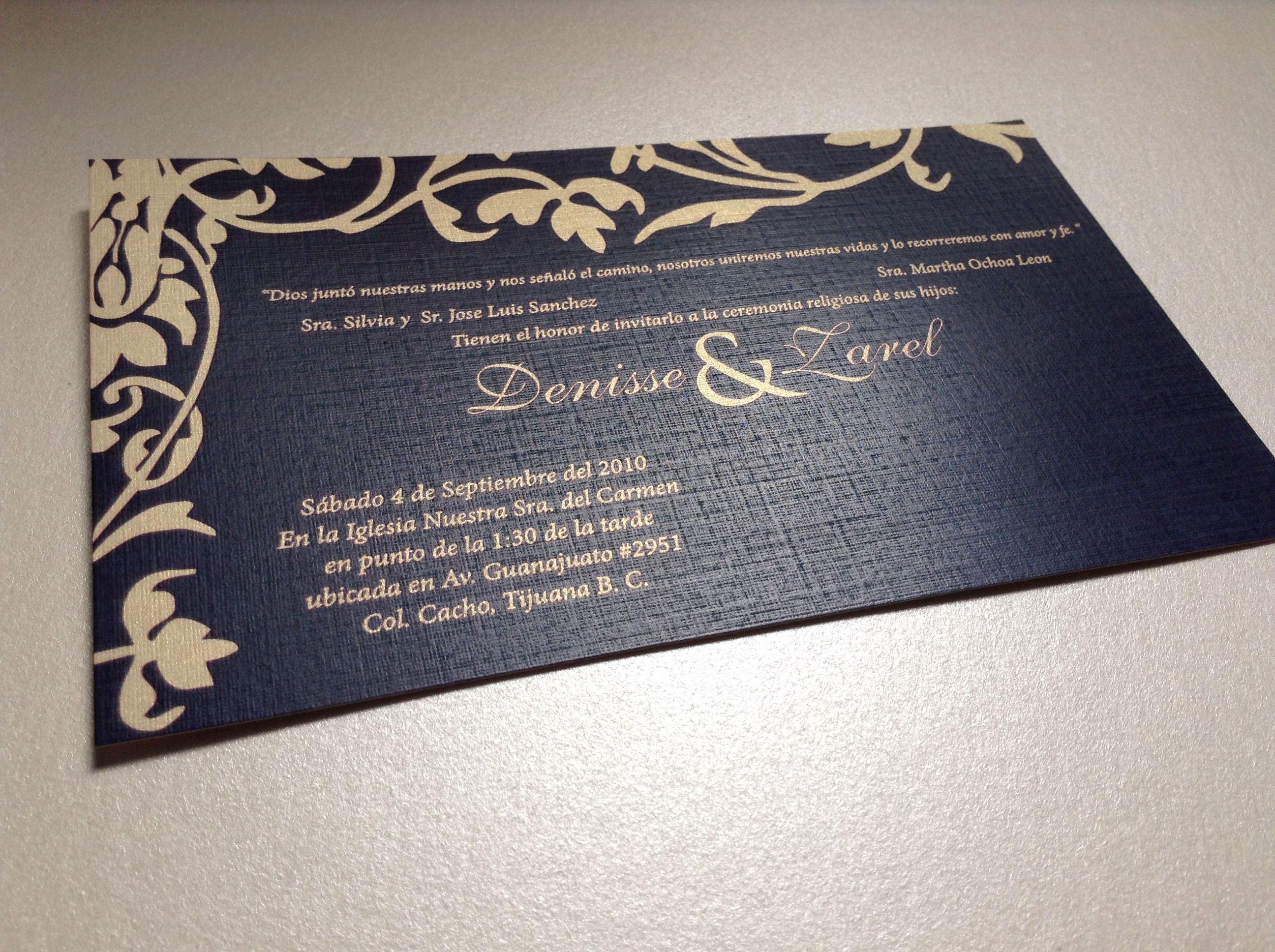 invitacion boda, wedding, blue, gold.