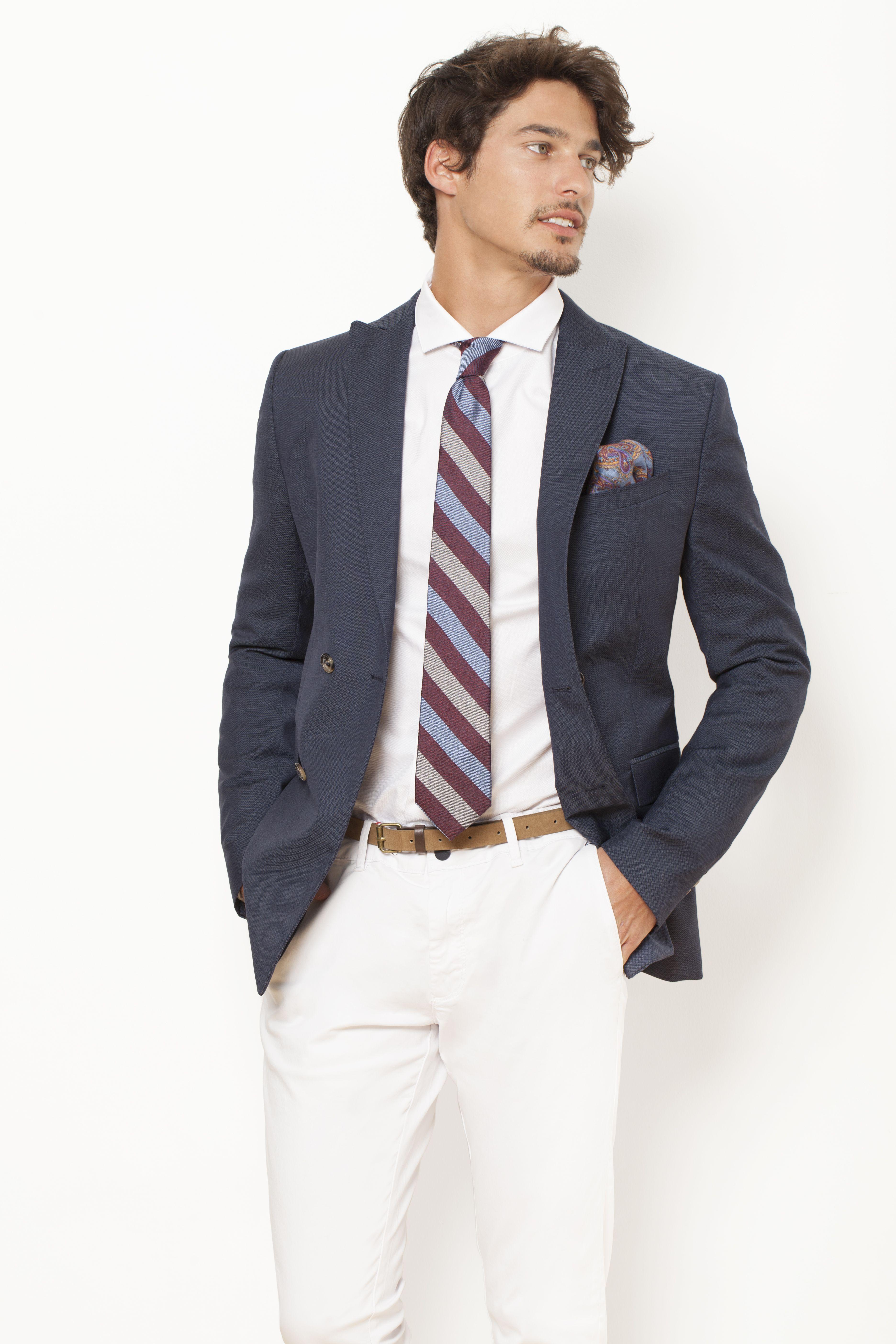 Seda Pitti Stripes Azules Corbata De Granates Rayas Y Yyf6b7gv