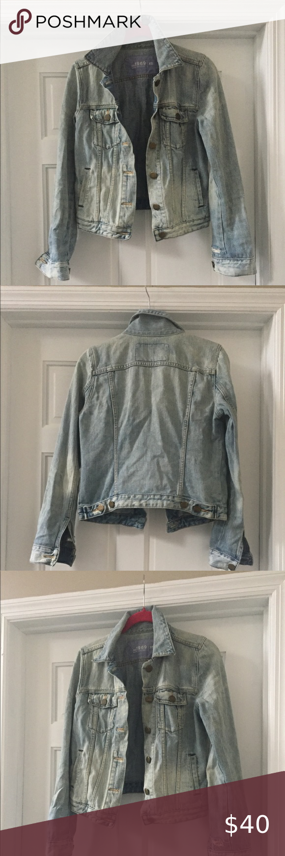 Gap 1969 Jean Jacket Vintage Wash Jeans Studded Denim Jacket Gap Denim Dress [ 1740 x 580 Pixel ]