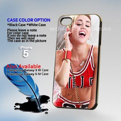Miley Cyrus Chicago Bulls Photo Hard Plastic iPhone 5 Case Cover | MonggoDiTumbas - Accessories on ArtFire