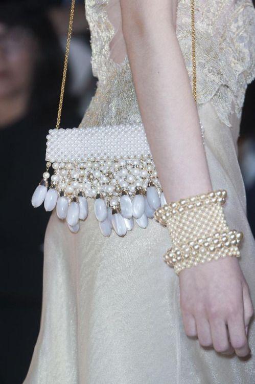 kurkova:  Armani Privé Fall 2013 Haute Couture Details