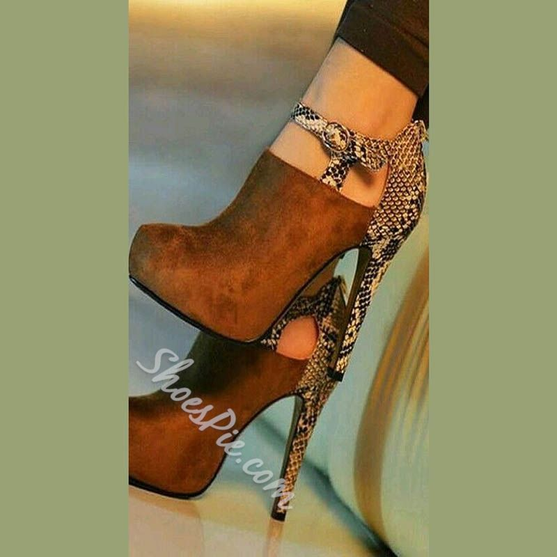c1c48a3752a Metal Buckles Leopard Print Ankle Boots in 2019   These shoes where ...