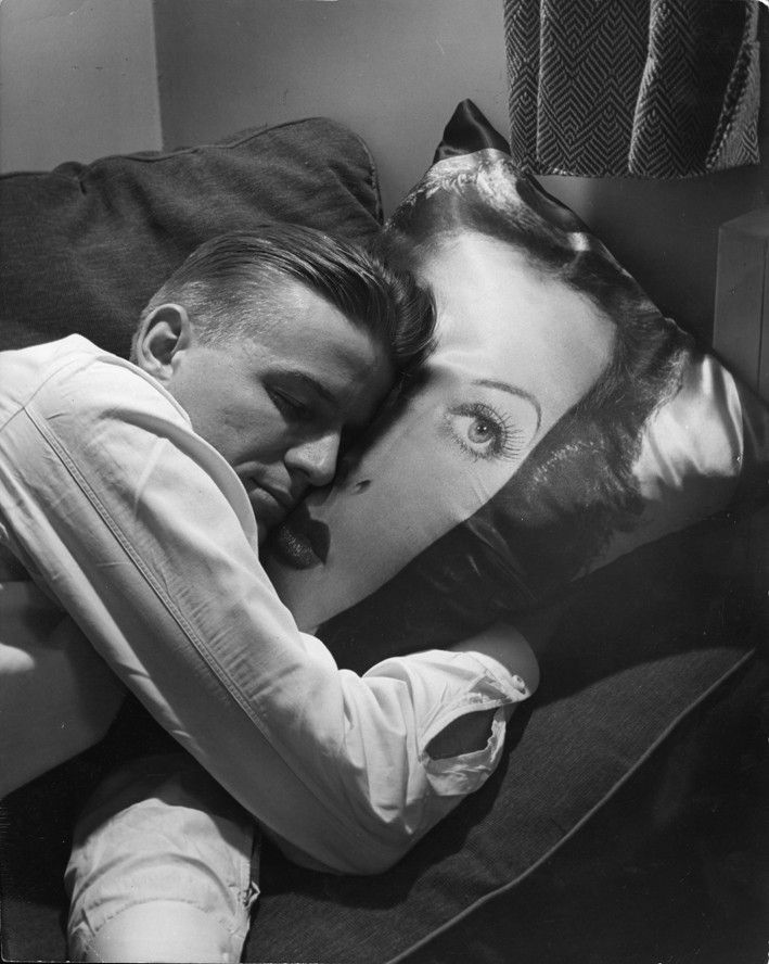 Teenage Boy Resting on Hedy Lamarr Pillow, 1947 Nina Leen