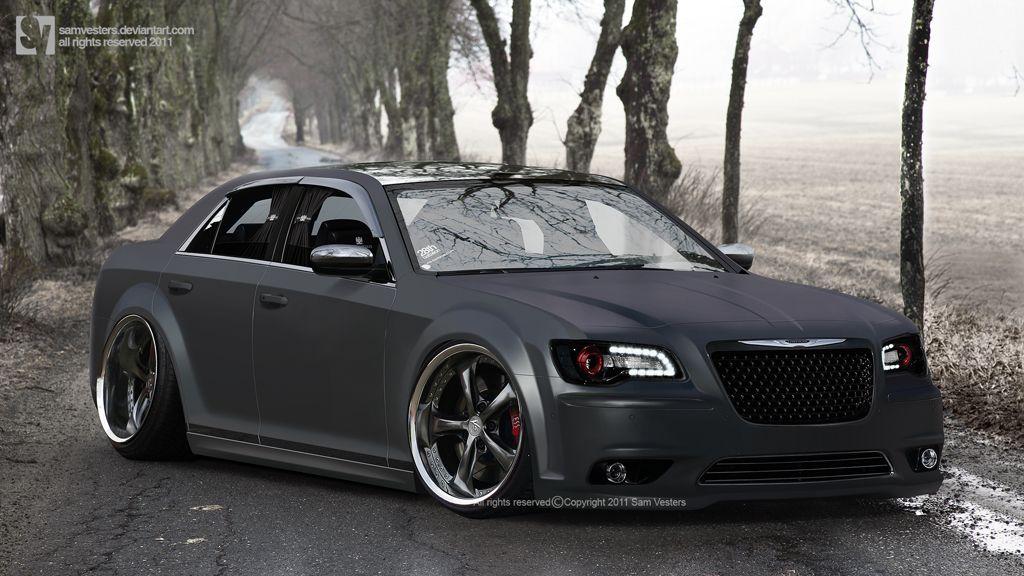 Chrysler 300 SRT8  PsGarage  Black Car Photography  Pinterest
