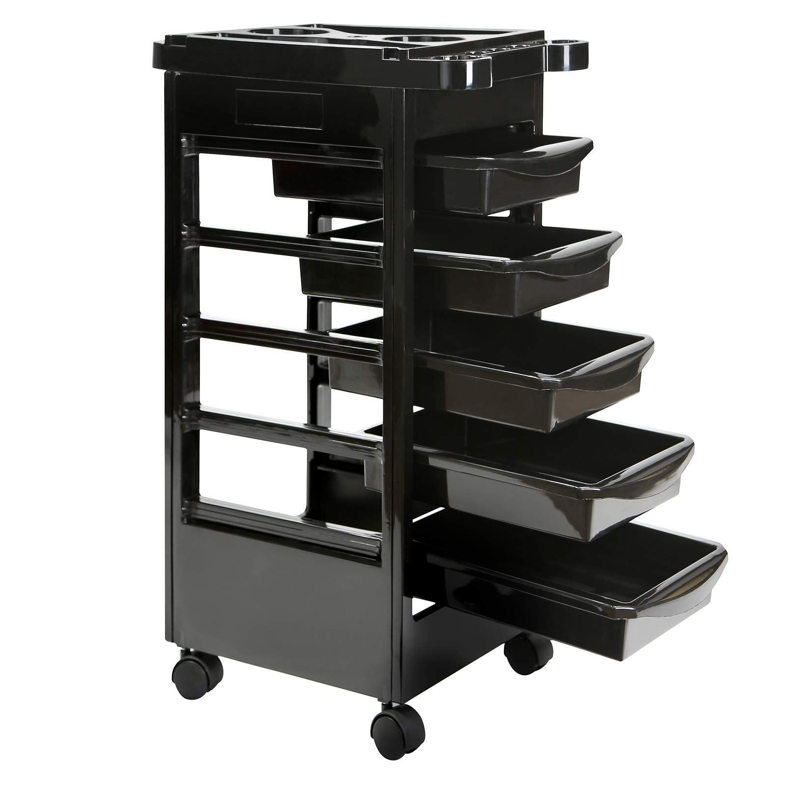 Beauty salon trolley mobile equipment cart with drawers