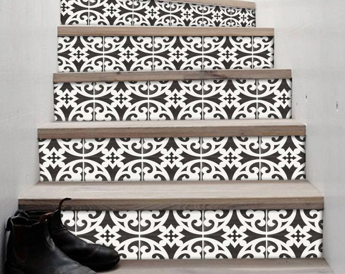 Removable Stair Riser Tile Decals