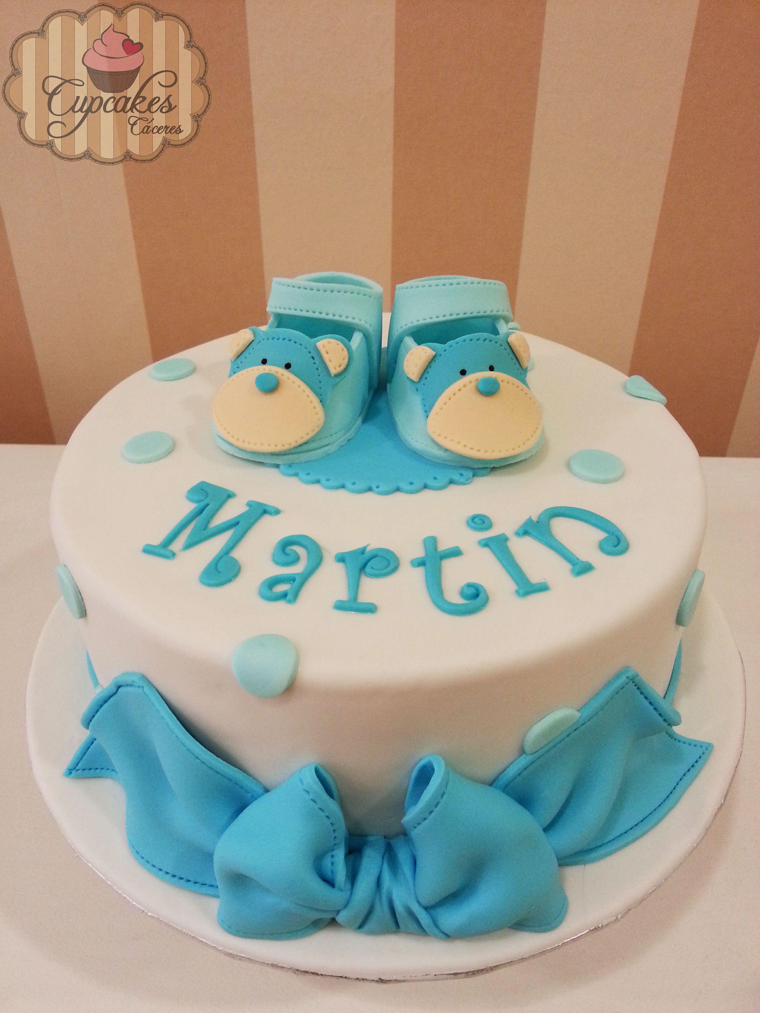 Tarta De Bautizo Para Niño Con Zapatos De Fondant Cake Birthday Cake Desserts