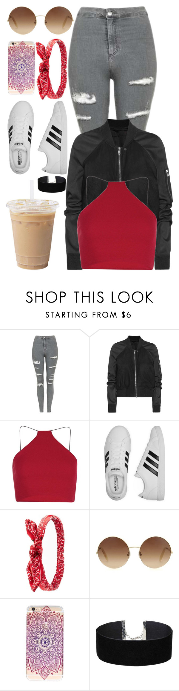 """""""Flex"""" by angelbrubisc ❤ liked on Polyvore featuring Topshop, Rick Owens, Milly, adidas, Charlotte Russe, Victoria Beckham and Miss Selfridge"""