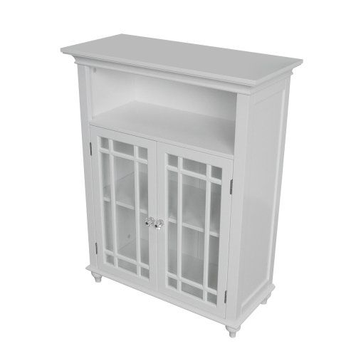 Elegant Home Fashions Neal Collection Shelved Double Door Floor