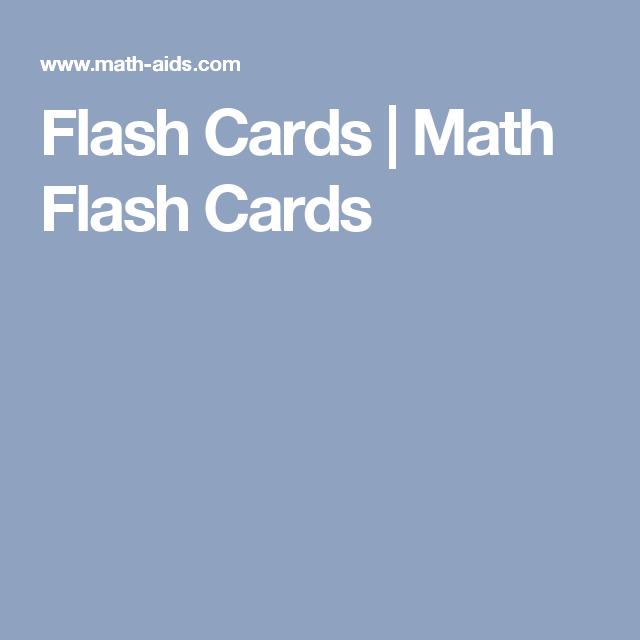 Flash Cards | Math Flash Cards | 3rd grade math | Pinterest | Math ...
