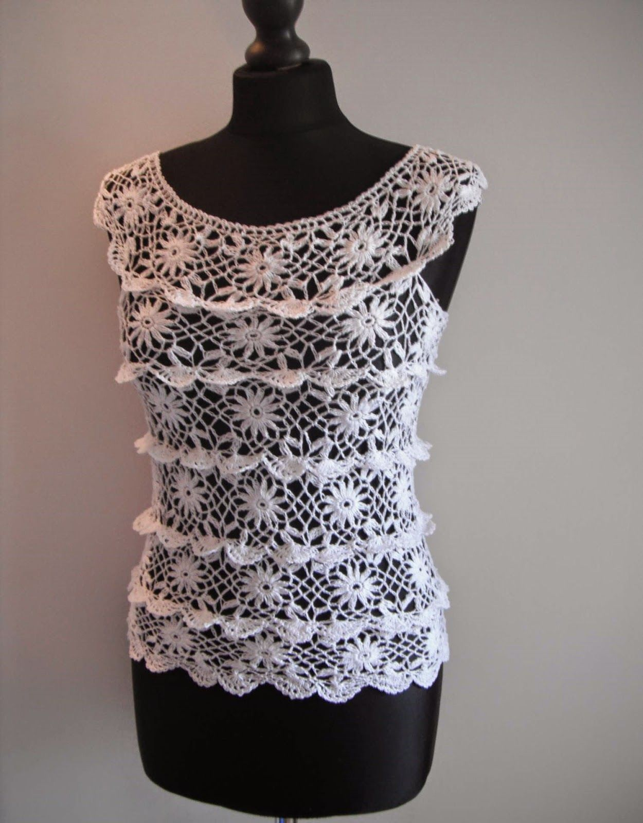 how to crochet ruffle blouse by marifu6a free crochet pattern ...