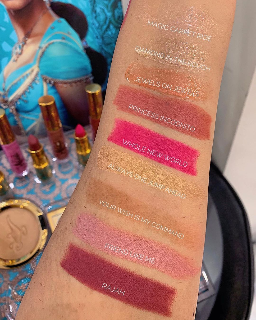 Aladdin collection by Mac Cosmetics lipstick review and
