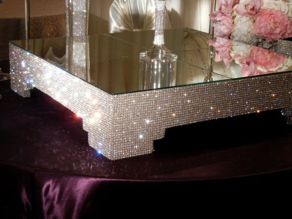 Real Crystal Covered Cake Stands for sale : wedding bling cake ...