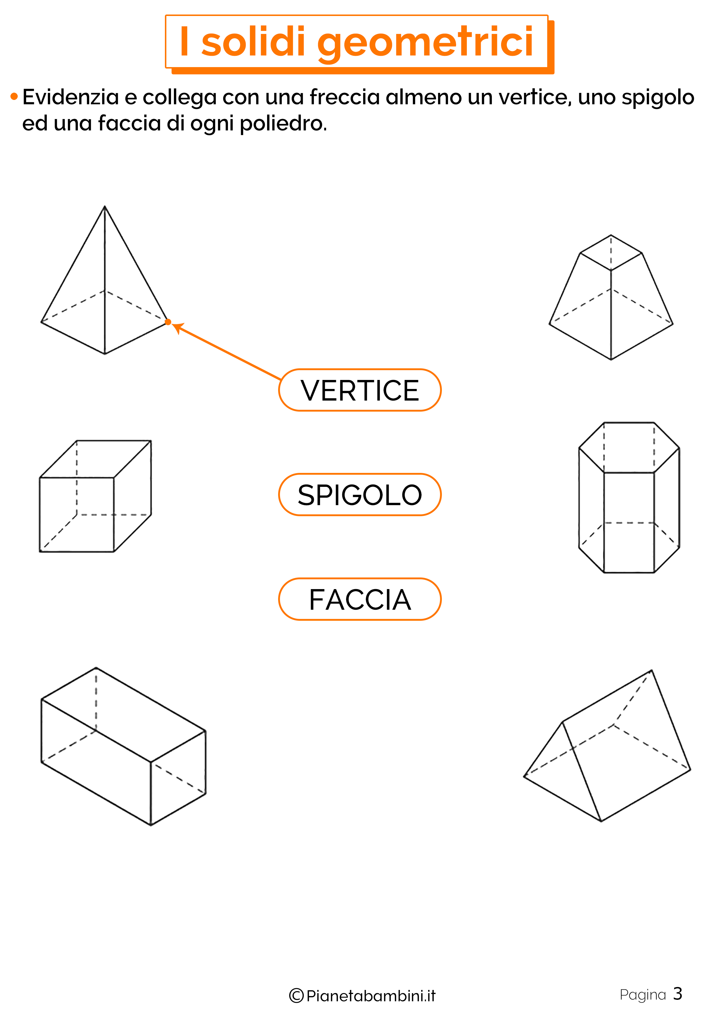I Solidi Geometrici Esercizi Per La Scuola Primaria Geometria Lezioni Di Geometria Scuola