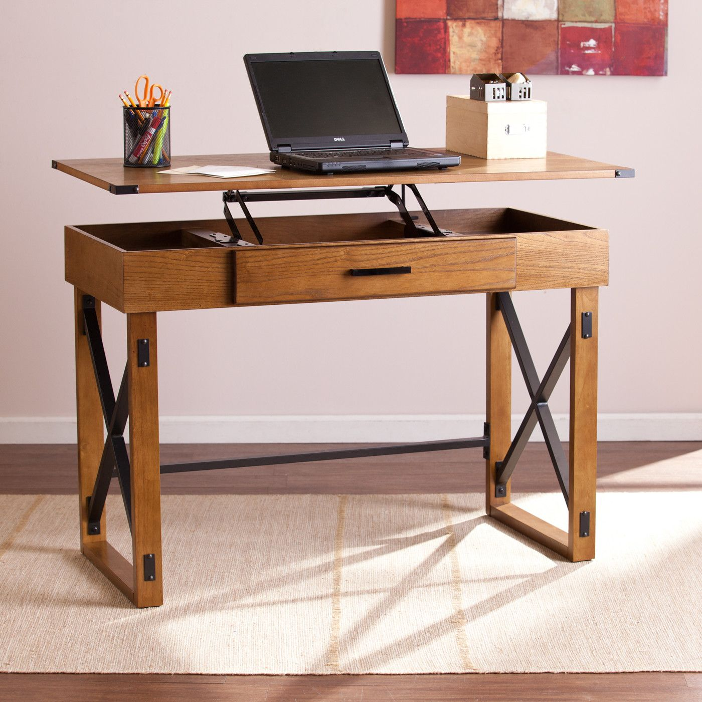 Calder Writing Desk Wayfair Adjustable Height Desk