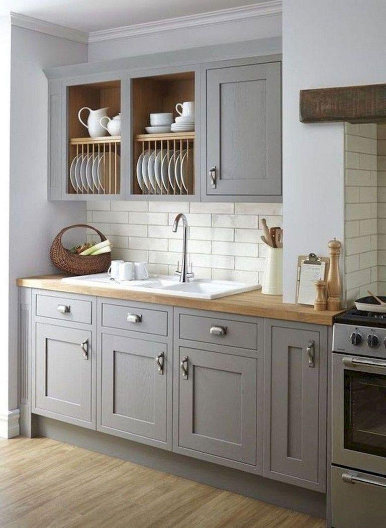 70 Amazing Farmhouse Gray Kitchen Cabinet Design Ideas Farmhouse Kitchencabinets Designidea Grey Kitchen Inspiration Kitchen Cabinet Design Kitchen Design