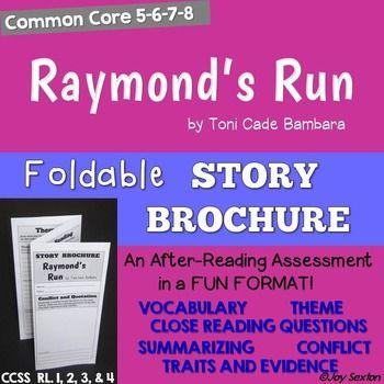 raymond s run foldable story brochure common core 5 6 7 8 school