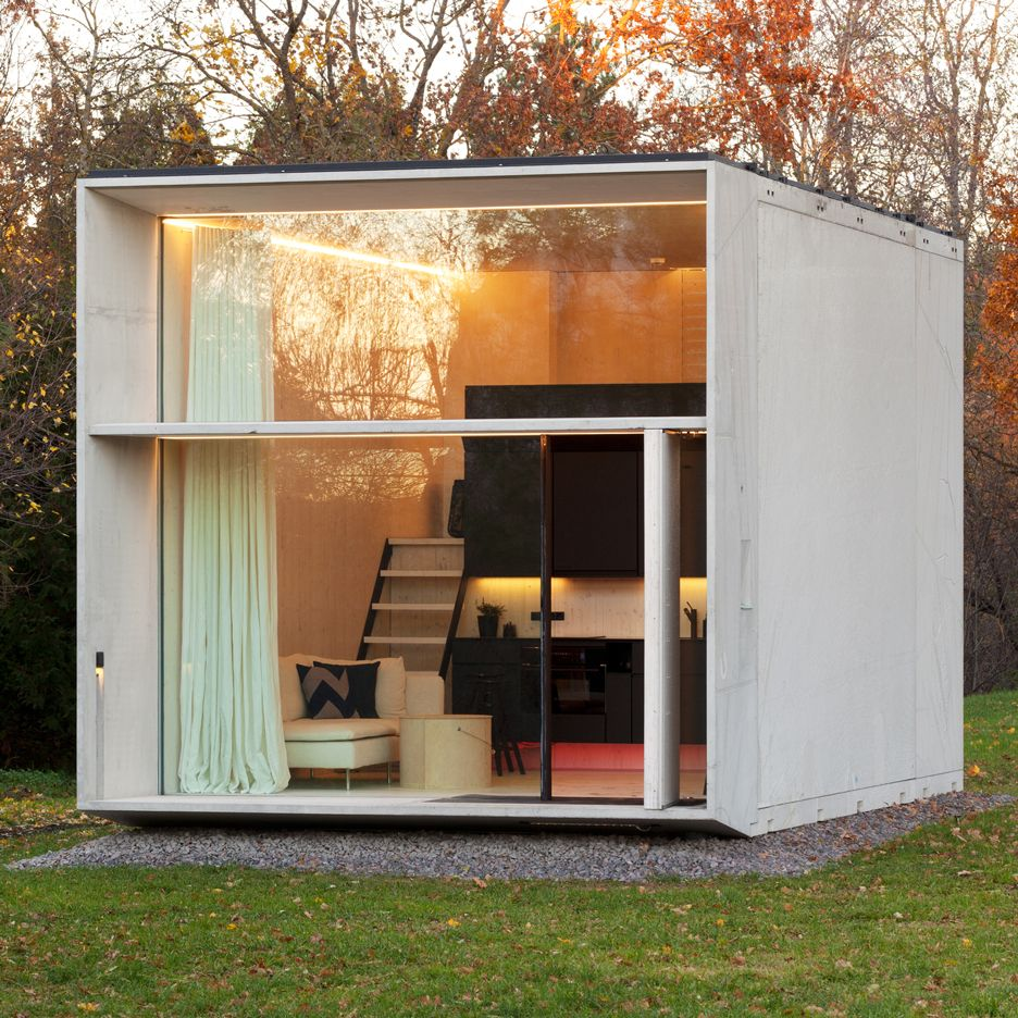 kodasema creates tiny prefabricated house that moves with. Black Bedroom Furniture Sets. Home Design Ideas