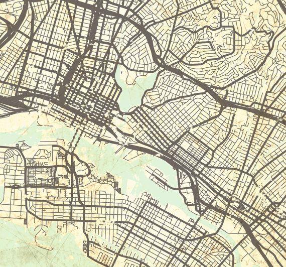 Oakland ca canvas print california vintage map oakland vintage oakland canvas print ca california vintage map by natalyborichart publicscrutiny Image collections