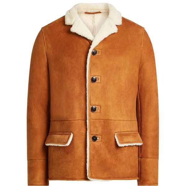 97fe1a526dc Valentino Shearling Jacket (€3.679) ❤ liked on Polyvore featuring men's  fashion, men's clothing, men's outerwear, men's jackets, camel, mens  shearling ...